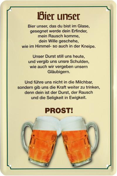 """Blechschild """" Trinkspruch Bier """""""