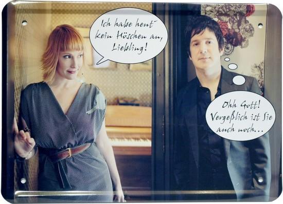 """Blechschild 15 x 21 cm """"hab heut kein Höschen an..."""""""