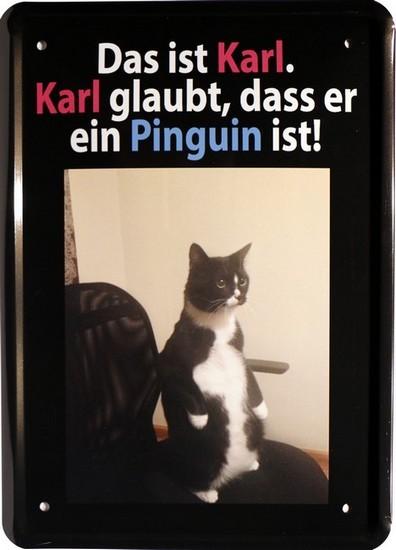"""Blechschild 15 x 21 cm """" Das ist Karl."""""""