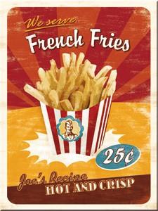 "Kühlschrank Magnet 6 x 8 cm ""French Fries"""