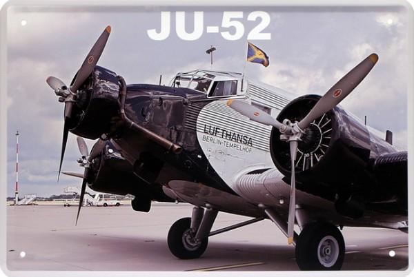 "Blechschild "" Junkers JU-52 Tante JU Flugzeug Plain """