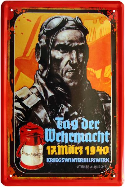 """Blechschild """" Soldat - Tag der Wehrmacht """""""