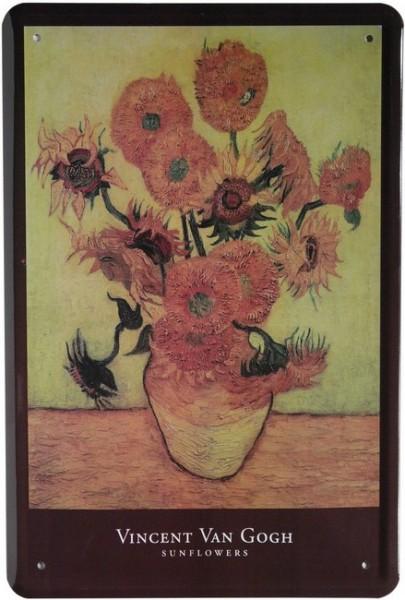 "Blechschild ""Vincent van Gogh Sonnenblumen"""