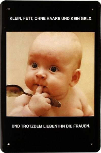 """Blechschild """" Comic Spruch Baby """""""