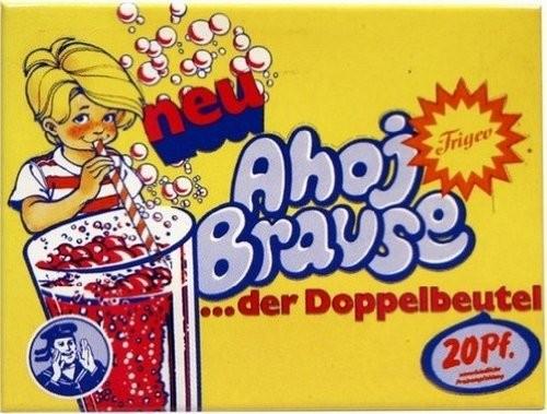 "Kühlschrank Magnet 6 x 8 cm ""Ahoj Brause """
