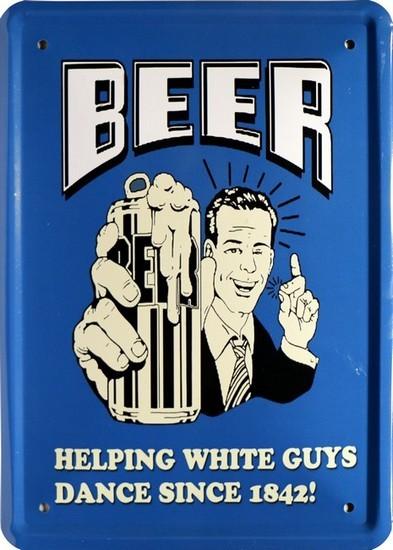 """Blechschild 15 x 21 cm """" Bier Beer """""""