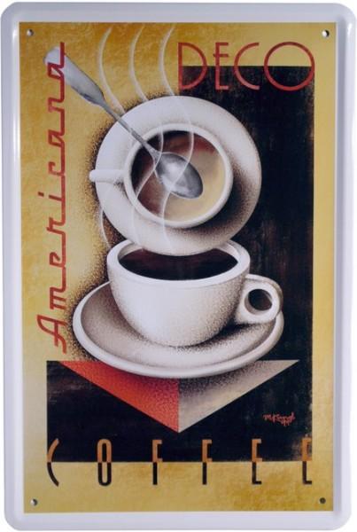 """Blechschild """"Coffee Americana Kaffee"""""""