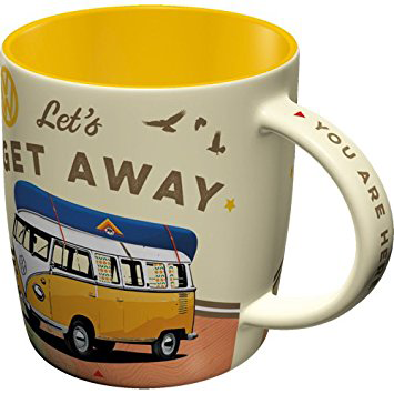 "Tasse "" VW Bulli - Let's get away """