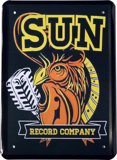 "Blechschild 15 x 21 cm ""SUN Record Company"""