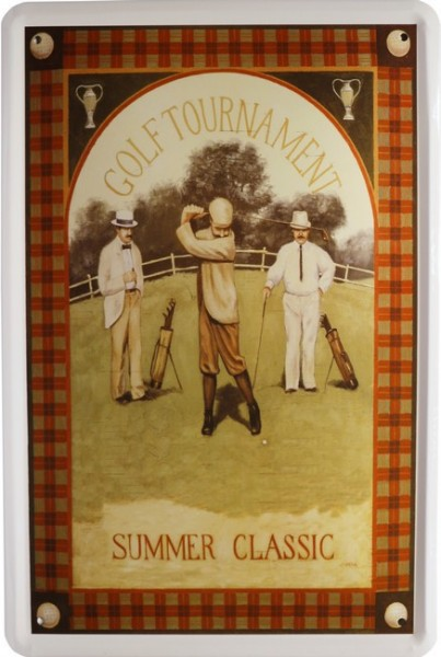 """Blechschild """" Golf Spieler Summer Classic """""""