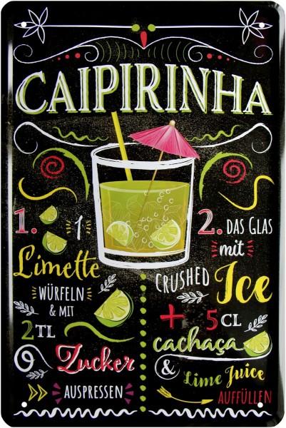 """Blechschild """" Caipirinha Cocktail """""""