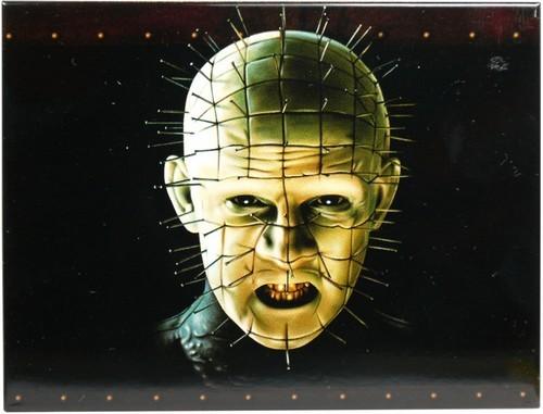 "Kühlschrank Metall Magnet ""Kopf mit Nägeln - Horror"""