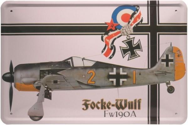 "Blechschild ""Focke-Wulf Fw190A Flugzeug"""