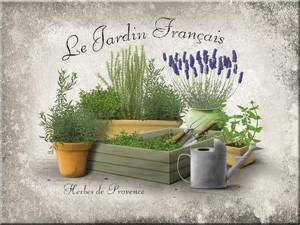 "Kühlschrank Magnet 6 x 8 cm ""Le Jardin Francais"""