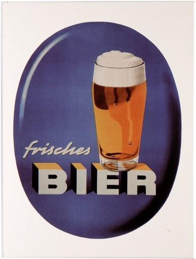"""Kühlschrank Metall Magnet """" Frisches Bier """""""