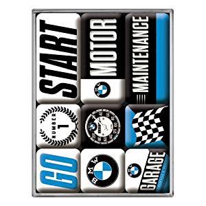 """Kühlschrank Magnet-Set 9-tlg """"BMW Motor"""""""