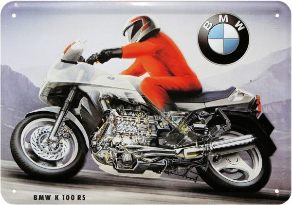 """Blechschild """" BMW K100 RS """""""