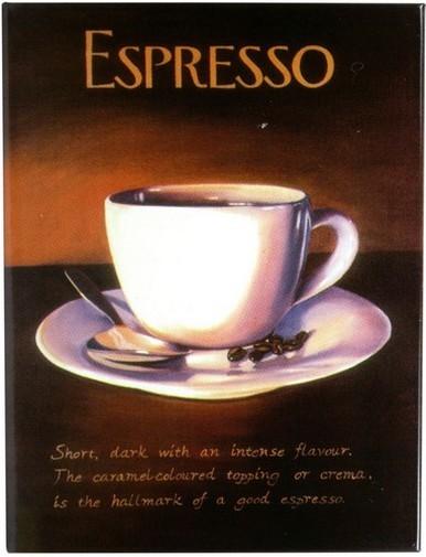 "Kühlschrank Metall Magnet "" Kaffee Tasse Espresso """