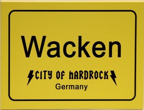 "Kühlschrank Metall Magnet "" Wacken City of Hardrock """