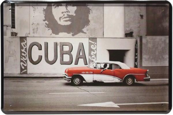 "Blechschild ""Viva Cuba Auto Car"""