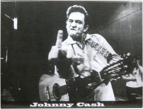 "Kühlschrank Metall Magnet "" Jonny Cash - Finger """