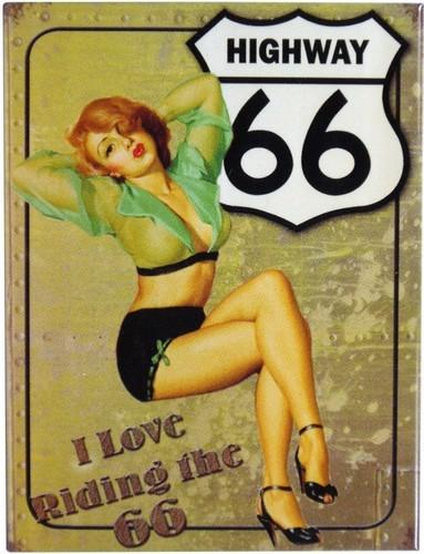 "Kühlschrank Metall Magnet ""Highway 66"""