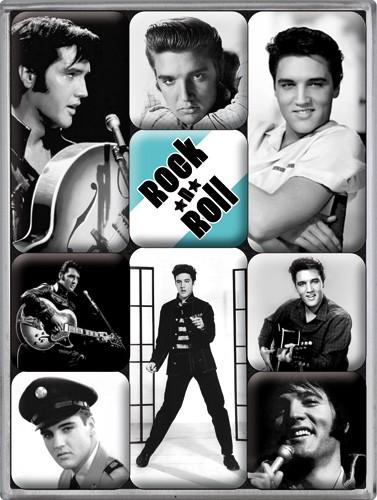 """Kühlschrank Magnet-Set 9-tlg """"Elvis Presley Rock´n Roll"""""""