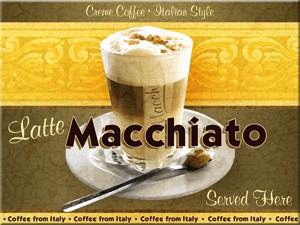 "Kühlschrank Magnet 6 x 8cm ""Latte Macchiato Coffee Kaffee"""
