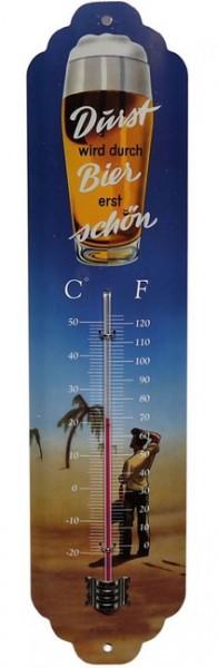 """Thermometer """"Durst wird durch Bier erst schön"""""""