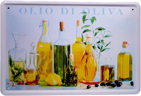 "Blechschild ""Olio di Oliva Olivenöl"""