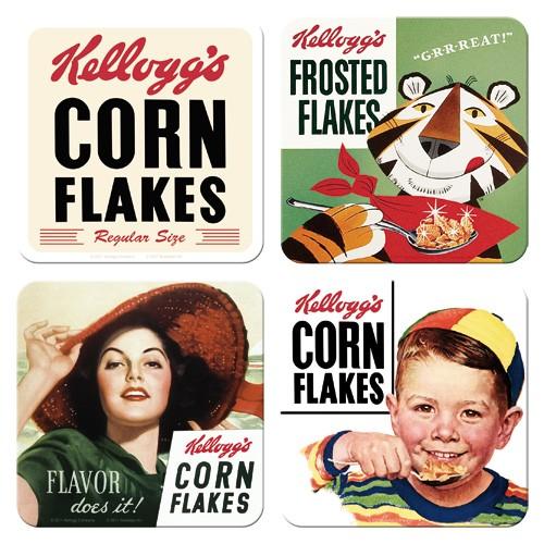 "Untersetzer-Set 4-tlg ""Kellogg´s Corn Flakes"""