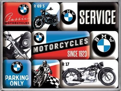 """Kühlschrank Magnet-Set 9-tlg """" BMW Motorcycles """""""