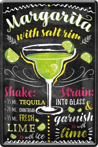 "Blechschild "" Margarita Cocktail """