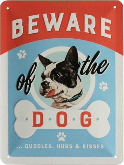 "Blechschild geprägt 15 x 20 cm ""Beware of the dog"""