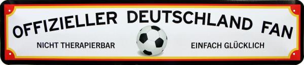 """Straßenschild """" Deutschland Fan Fußball Weltmeisterschaft """""""