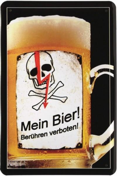 """Blechschild """"Mein Bier - berühren verboten"""""""