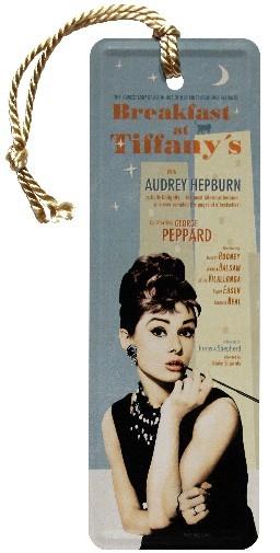 """Lesezeichen """" Breakfast at Tiffany's Blue """" mit Kordel"""