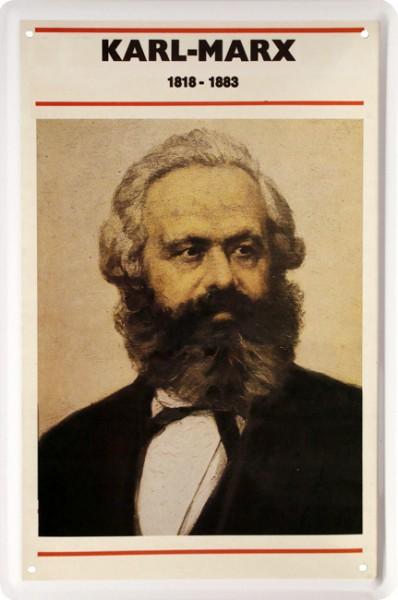"Blechschild "" Portrat Karl Marx """