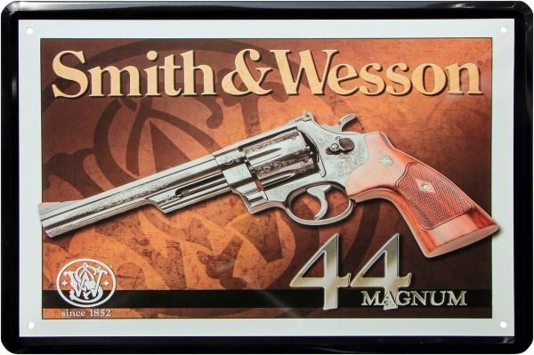 "Blechschild "" Smith & Wesson Revolver Colt """