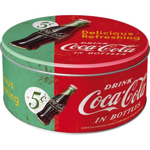 "Vorratsdose flach rund "" Coca Cola green """