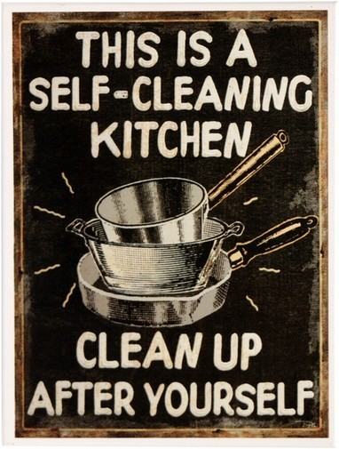 "Kühlschrank Metall Magnet "" Self Cleaning Kitchen """